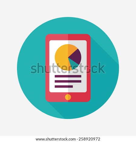 Smart phone with increasing bar chart  - stock vector