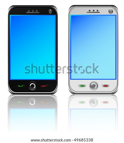 Smart Phones - stock vector