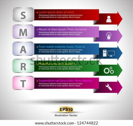 Smart project for presentation or Data business - stock vector