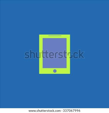 Smart tablet. Icon Vector. Icon Picture. Icon Graphic. Icon Art. Icon JPG. Icon JPEG. Icon EPS. Icon AI. Icon FLAT. Icon SIMPLE - stock vector