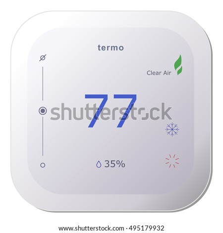 Thermostat stock images royalty free images vectors shutterstock - Nest thermostat stylish home temperature control ...