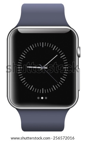 Smart watch isolated on white background - stock vector