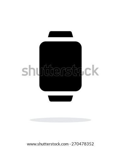 Smart watch simple icon on white background. Vector illustration. - stock vector
