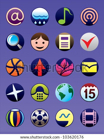 Smartphone and GSM  menu icons set - vector illustration - stock vector