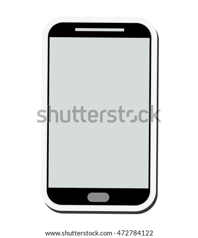 smartphone cellphone mobile gadget technology icon. Flat and Isolated design. Vector illustration
