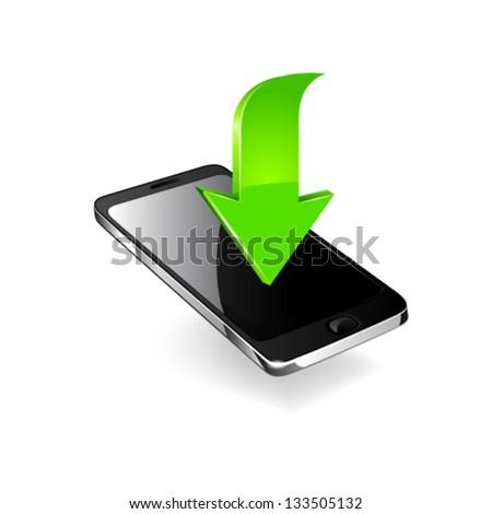 Smartphone editable vector file. Original design. - stock vector