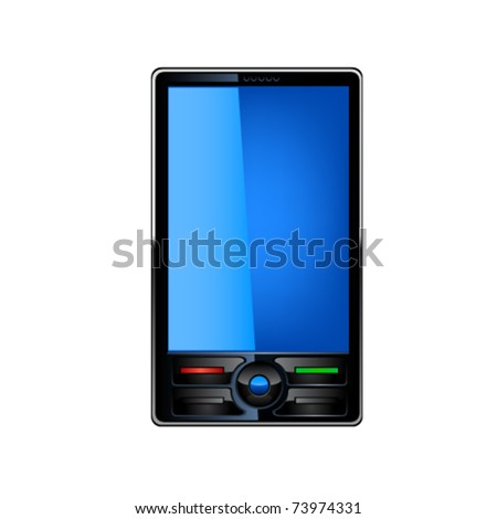 Smartphone editable vector file. Original design. - stock vector