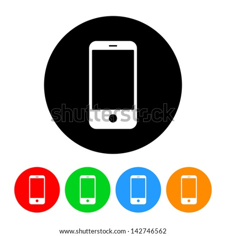 Smartphone Icon - stock vector