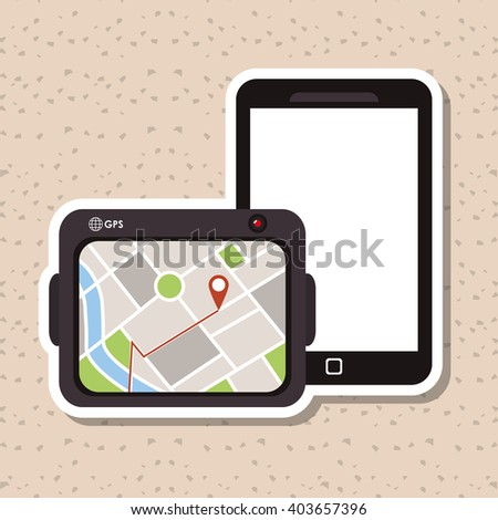 Smartphone icon design , vector illustration