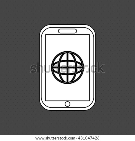 smartphone icon. gadget concept. Flat illustration , vector - stock vector