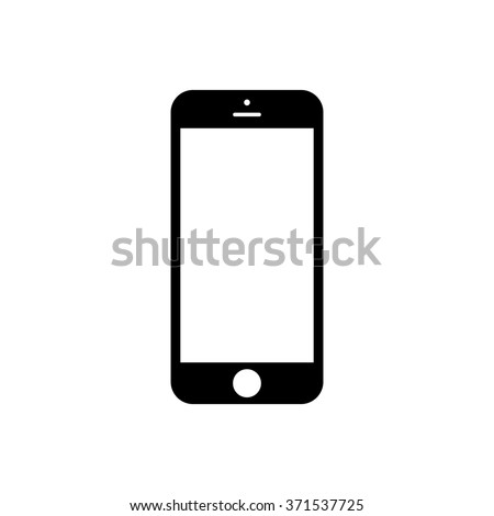 Smartphone icon iphone style cellphone pictogram stock vector smartphone icon in iphone style cellphone pictogram in trendy flat style isolated on white background voltagebd Choice Image