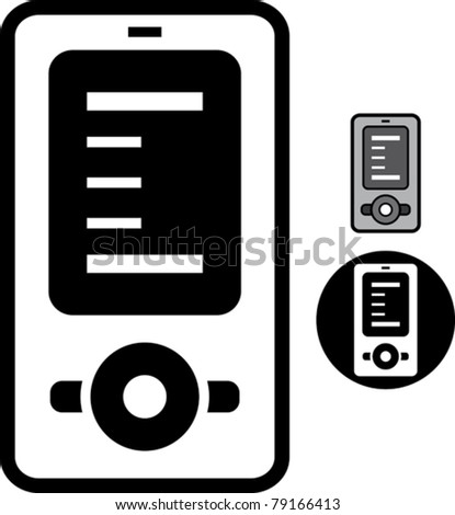 Smartphone icon - Simple vector illustration isolated - stock vector