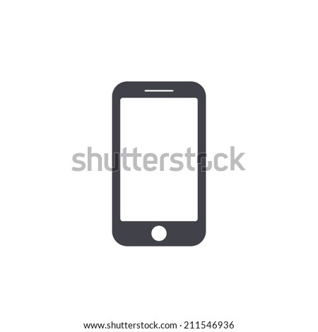 smartphone icon,vector illustration - stock vector