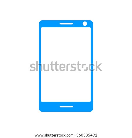 smartphone icon, vector illustration flat EPS 10