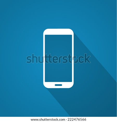 Smartphone icon with shadow. - stock vector