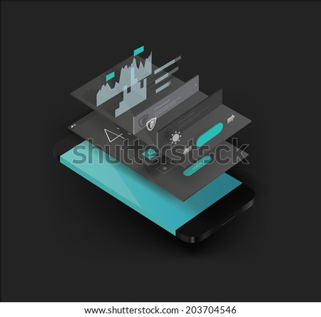 smartphone illustration - stock vector