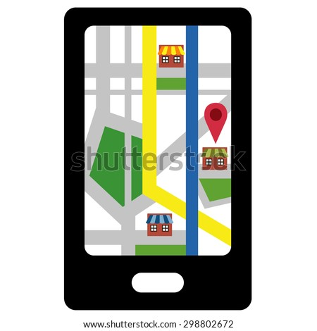 Smartphone navigation icon vector
