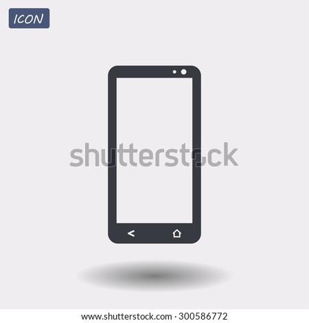 smartphone vector icon 10 EPS - stock vector