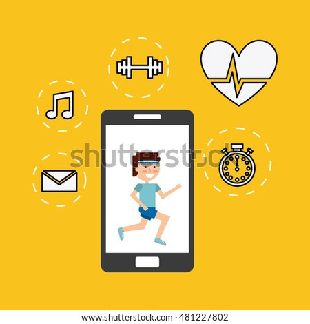 smartphone wearable technology icons vector illustration design