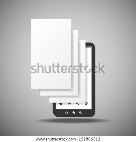 Smartphone With Layers | Business Vector Illustration - stock vector