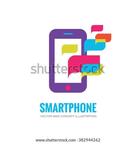 Smatphone vector logo concept illustration. Mobile phone vector logo creative illustration. Mobile technology logo. Cellpnone logo. Mobile phone logo design. Vector logo template. Design element. - stock vector