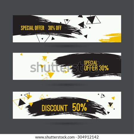 Smear a watercolor painting. Discount goods. Special offer, best price of 50 off. black Friday. - stock vector