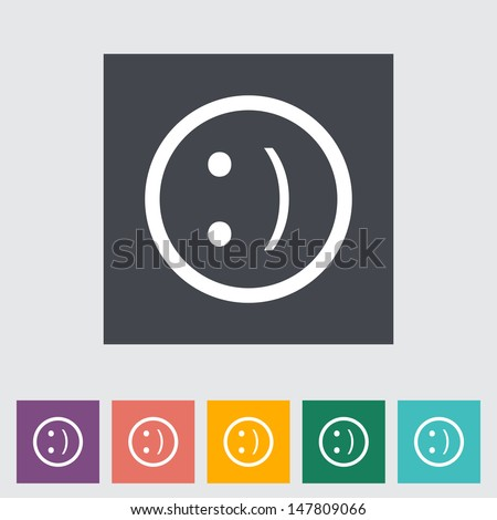 Smile flat icon. Vector illustration. - stock vector
