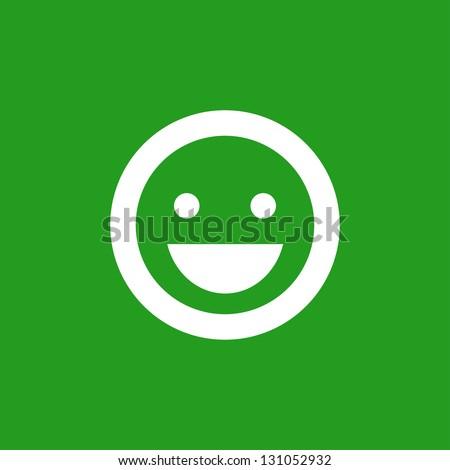 Smile icon - stock vector