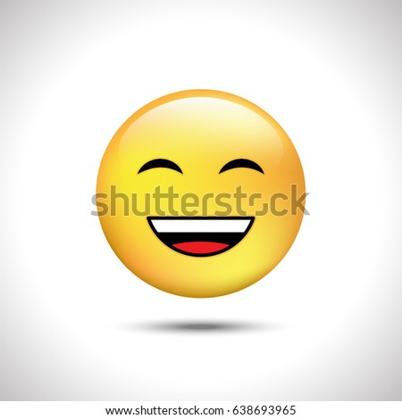 smile icon isolated on gray background happy stock vector royalty