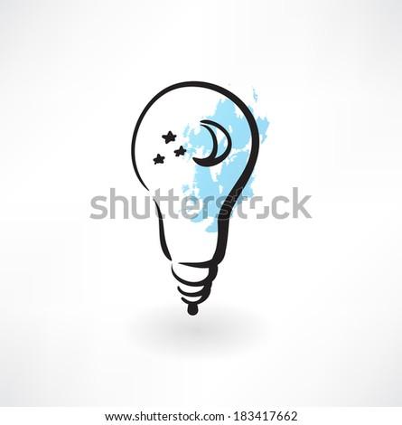 smile light bulb icon - stock vector