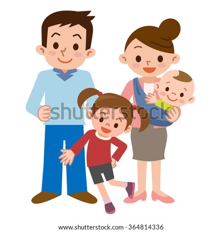 Smile of a happy family - stock vector