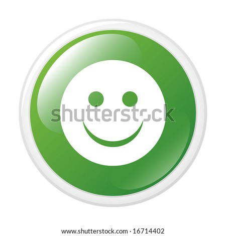 Smile. Vector icon. Button