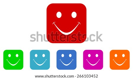 smile vector icons set - stock vector