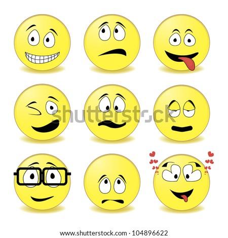 smiley - stock vector