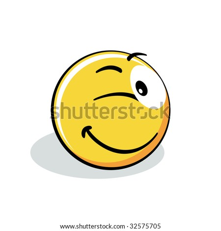 Smiley emoticon - stock vector
