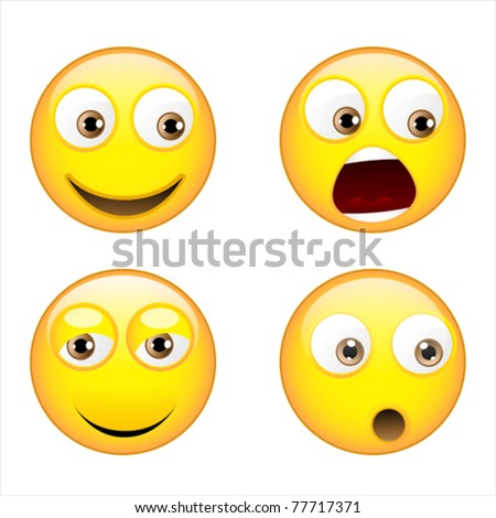Smiley expressions - stock vector
