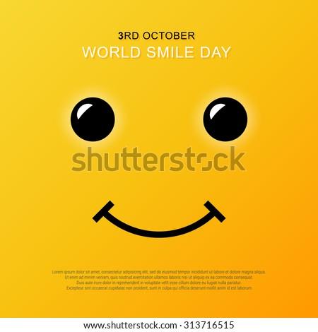 Smiley face yellow smile poster world 313716515 smiley face yellow smile poster world smile day vector illustration smiley vector voltagebd Gallery