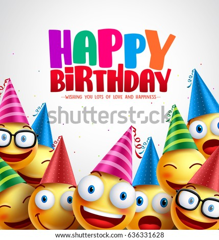 Smiley happy birthday greeting card colorful stock vektr 636331628 smiley happy birthday greeting card colorful stock vektr 636331628 shutterstock m4hsunfo
