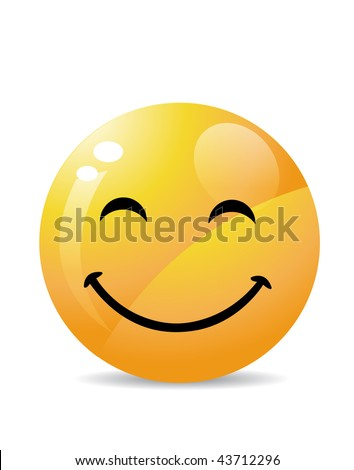 Smiley on white - stock vector