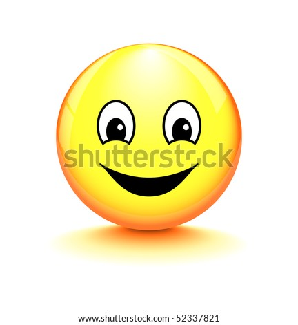 Smiley on white background - stock vector