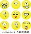 Smileys. Vector illustration - stock vector