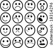 smilies and faces - stock vector