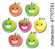 Smiling fruit series - stock photo