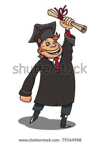 Smiling student with diploma for education concept or design. Jpeg version also available in gallery