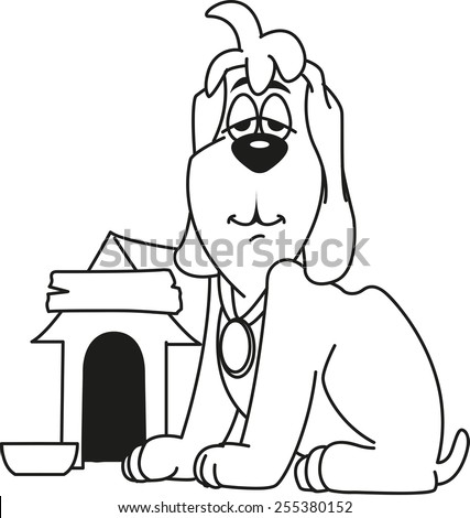 Dog House Coloring Pages Dog House Coloring Page