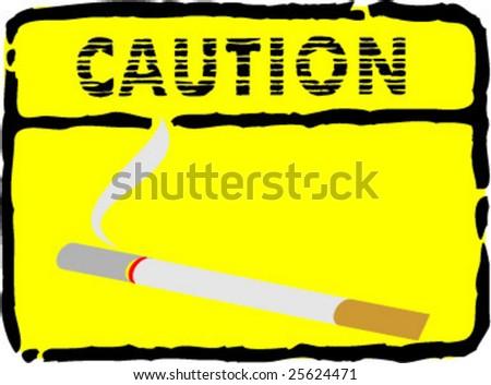 smoke caution illustration - stock vector