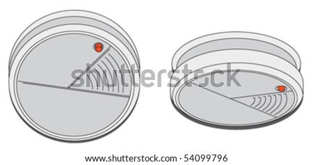 Smoke detector - stock vector