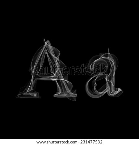 Smoke font. Letter A. Vector illustration alphabet - stock vector
