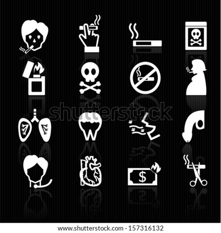 Smoke icons - stock vector