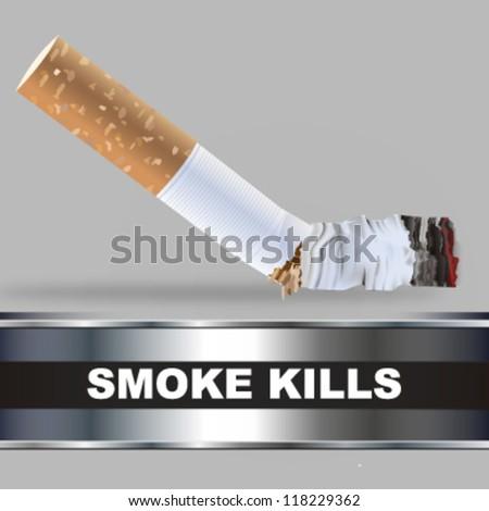 smoke kills design. vector illustration - stock vector